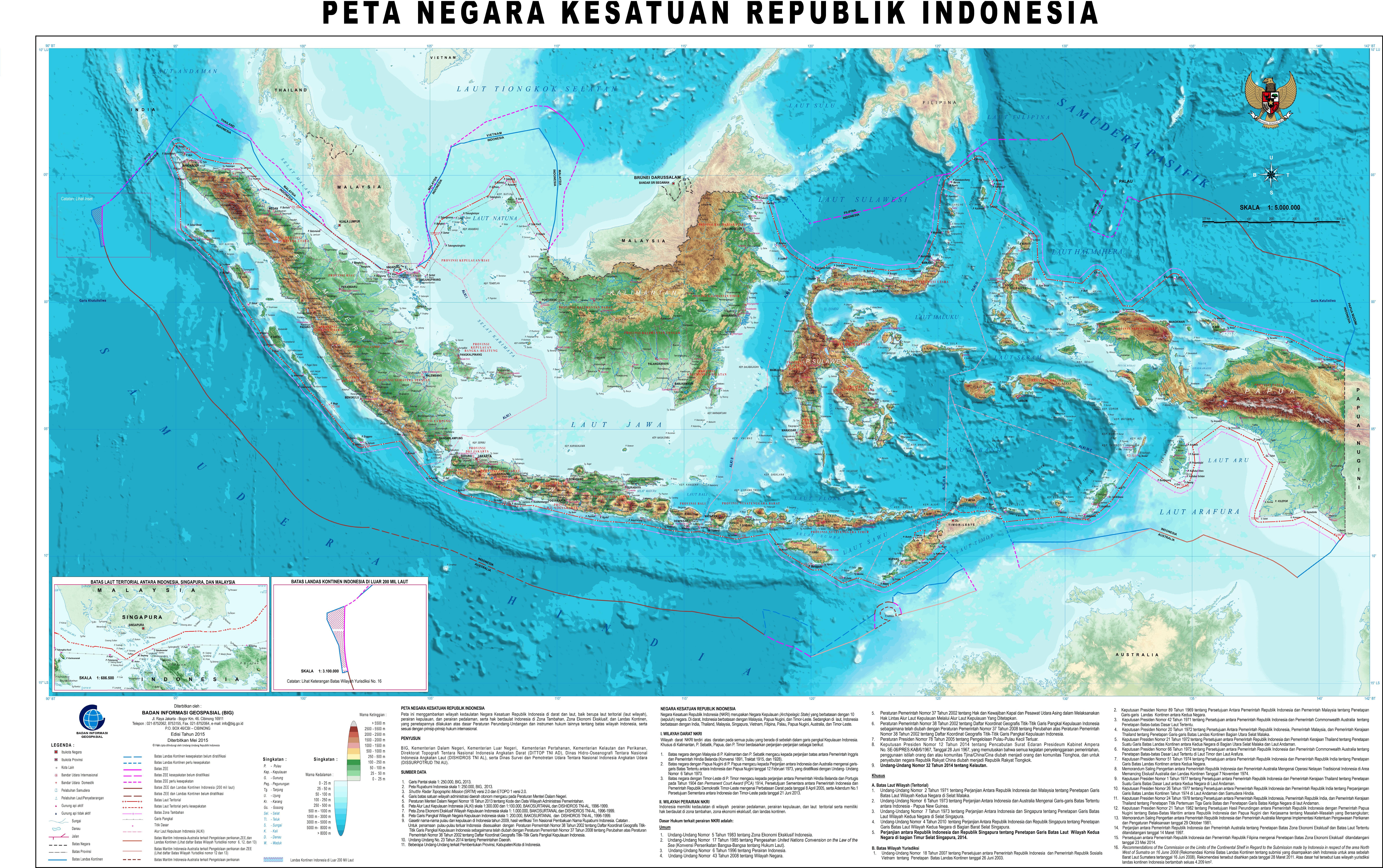 Big Bersama Menata Indonesia Lebih Baik Peta Nkri 2015 Skala